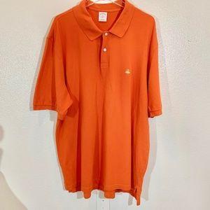 Men's Brooks Brothers 346 S/S Orange Polo XXL 2XL